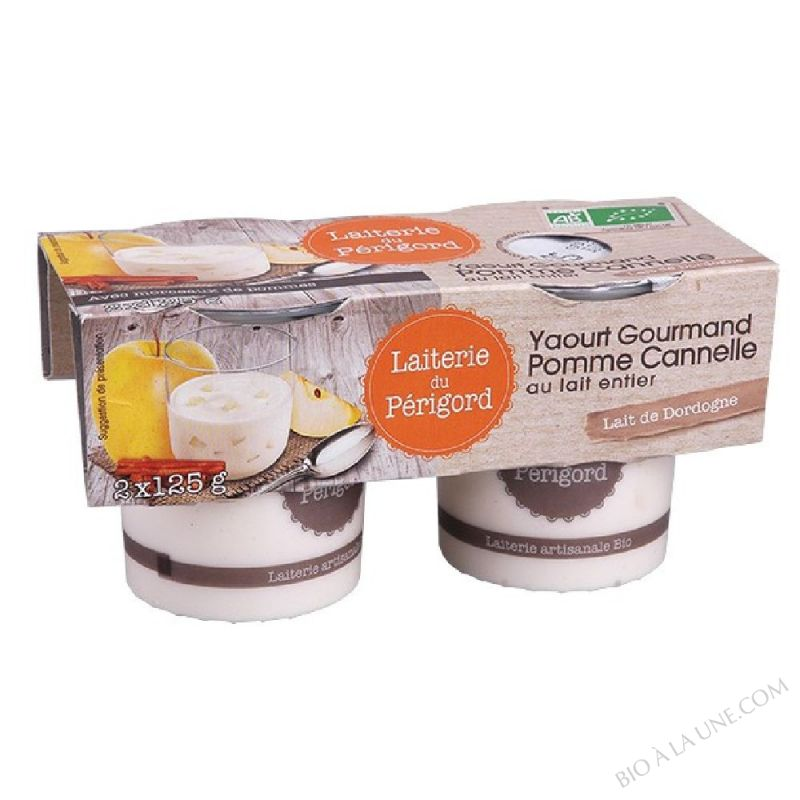 yaourt gourmand pomme cannelle 2x125g