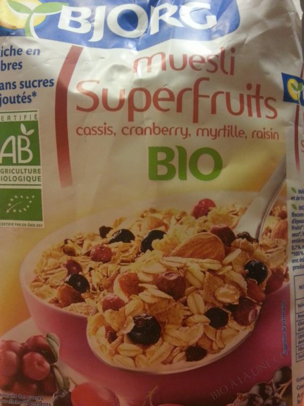 Muesli aux superfruits 375g