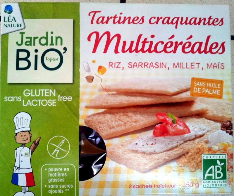Tartines craquantes multicereales sans gluten 150gr