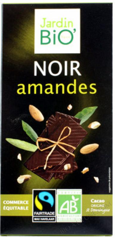 Chocolat noir amandes 100g
