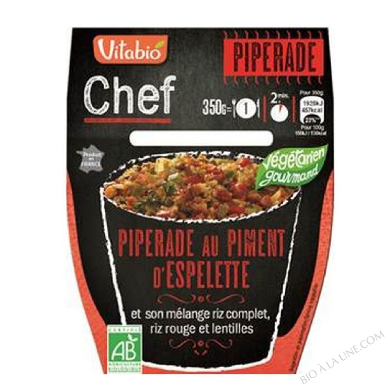 PIPERADE AU PIMENT D'ESPELETTE 350G