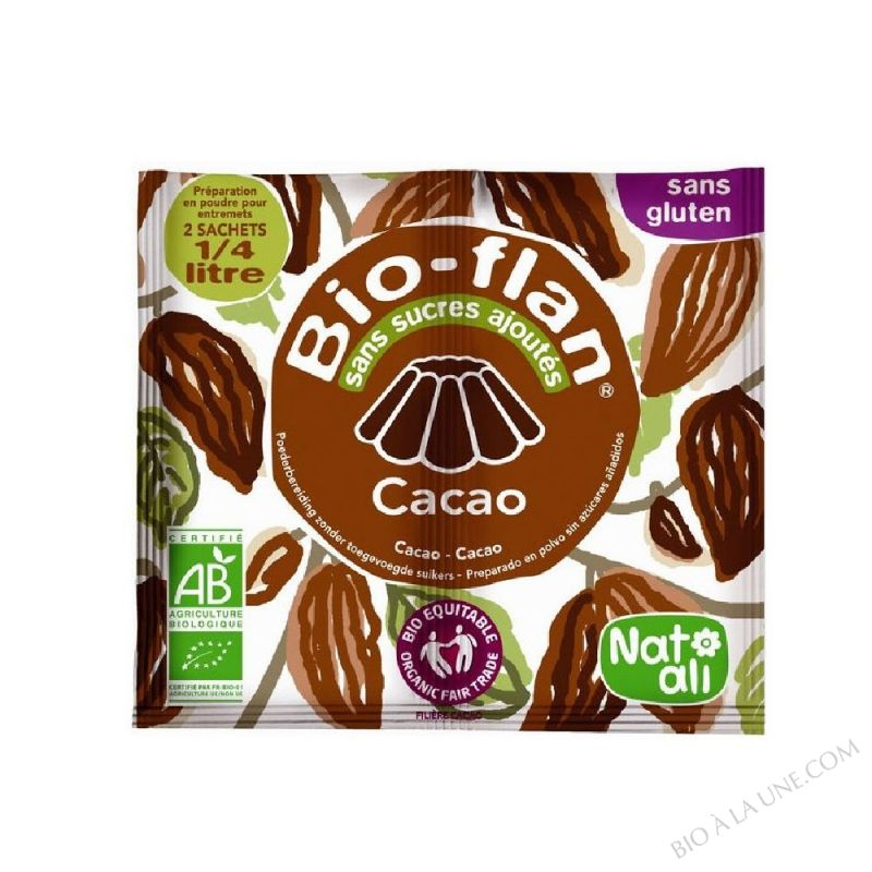 BIOFLAN CACAO S/SUCRE 11G NATALI