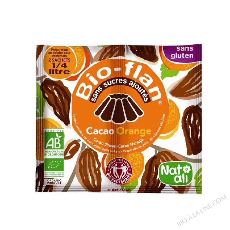 Bioflan Choco. Orange sans sucre 10g