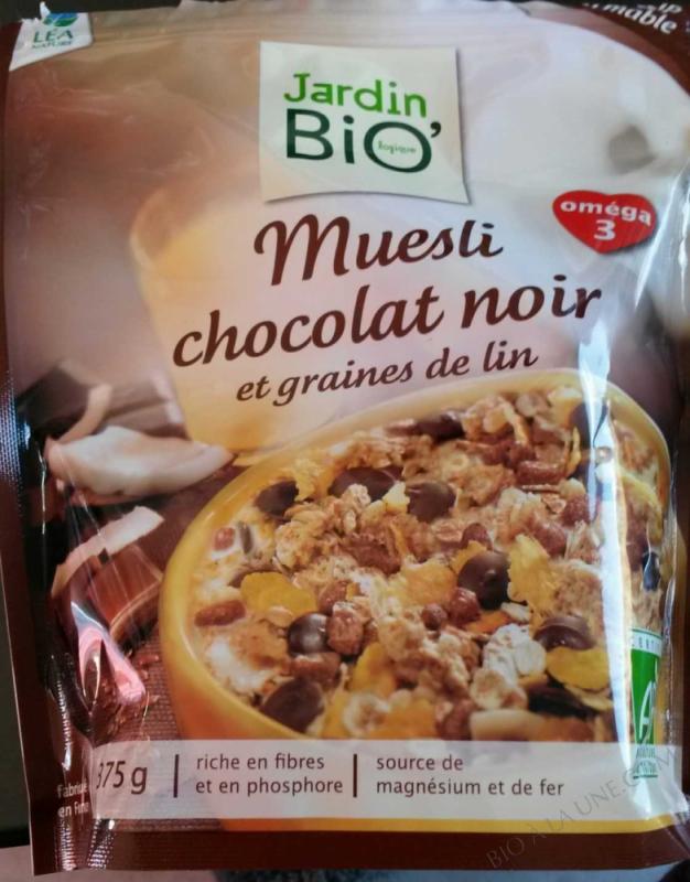 muesli chocolat noir et graines de lin- 375 g