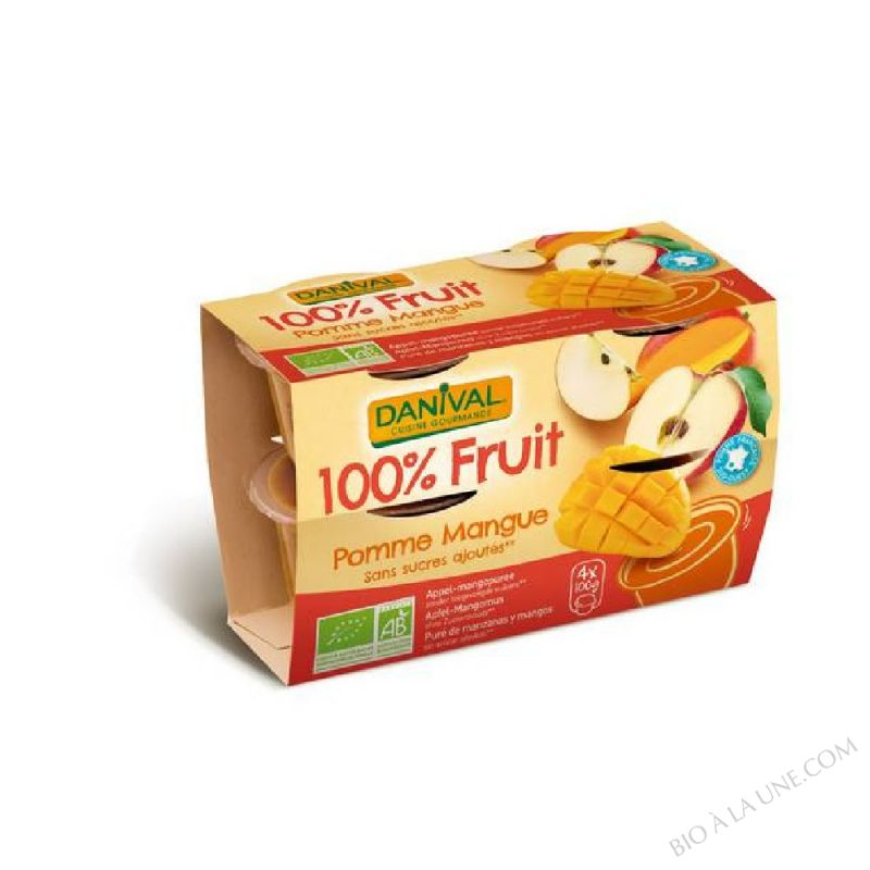 100 % fruit pomme mangue