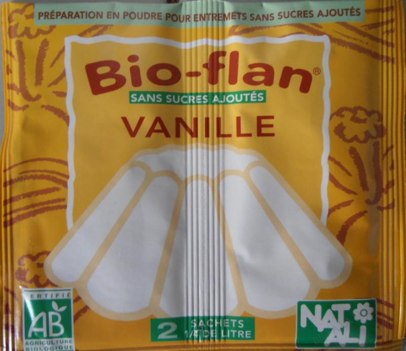 Bioflan Vanille sans sucre 8g
