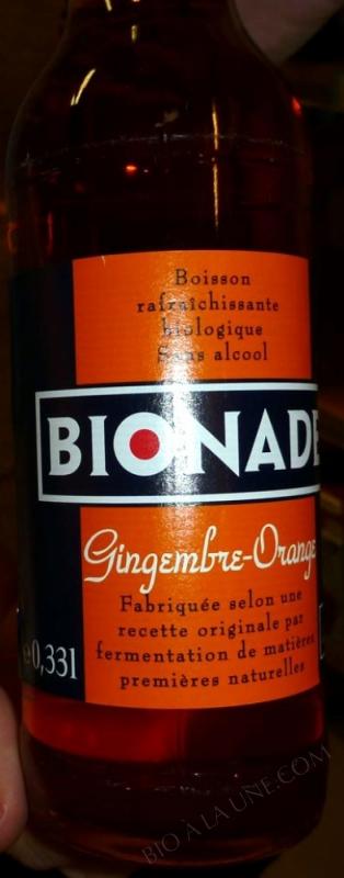 BIONADE Orange et gingembre - 33 cl