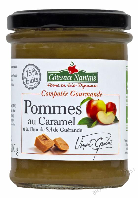Compotee Gourmande Pommes Caramel à la fleur de sel Bio 200g