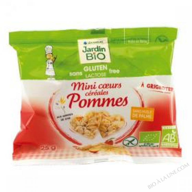 Mini coeurs cereales Pommes sans gluten 4 x 25g