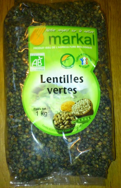 Lentilles vertes 1kg