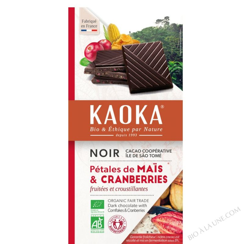 Chocolat Noir 66 % Cranberries Cereales 100g