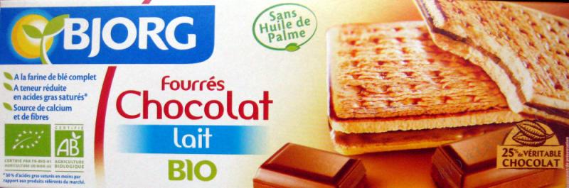 FOURRES CHOCOLAT LAIT 225G