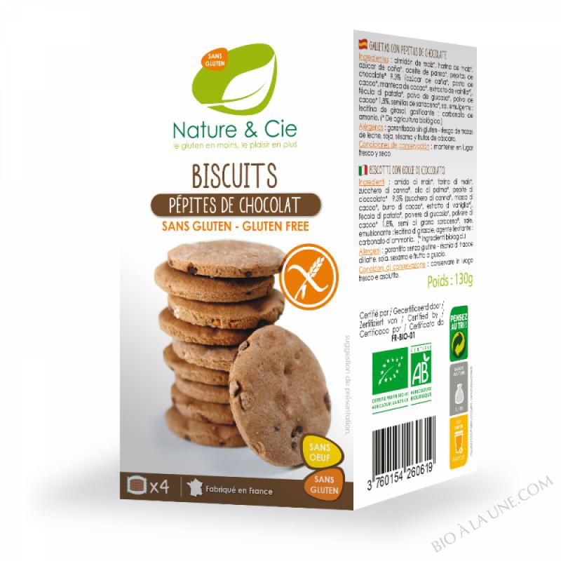 BISCUIT CHOCOLAT PEPITES CHOCO - 130G NATURE & COMPAGNIE