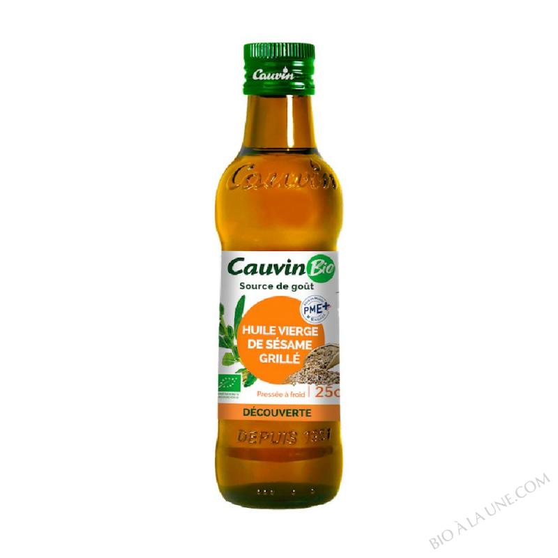 Huile de sésame grillé Bio Cauvin- 25 cl