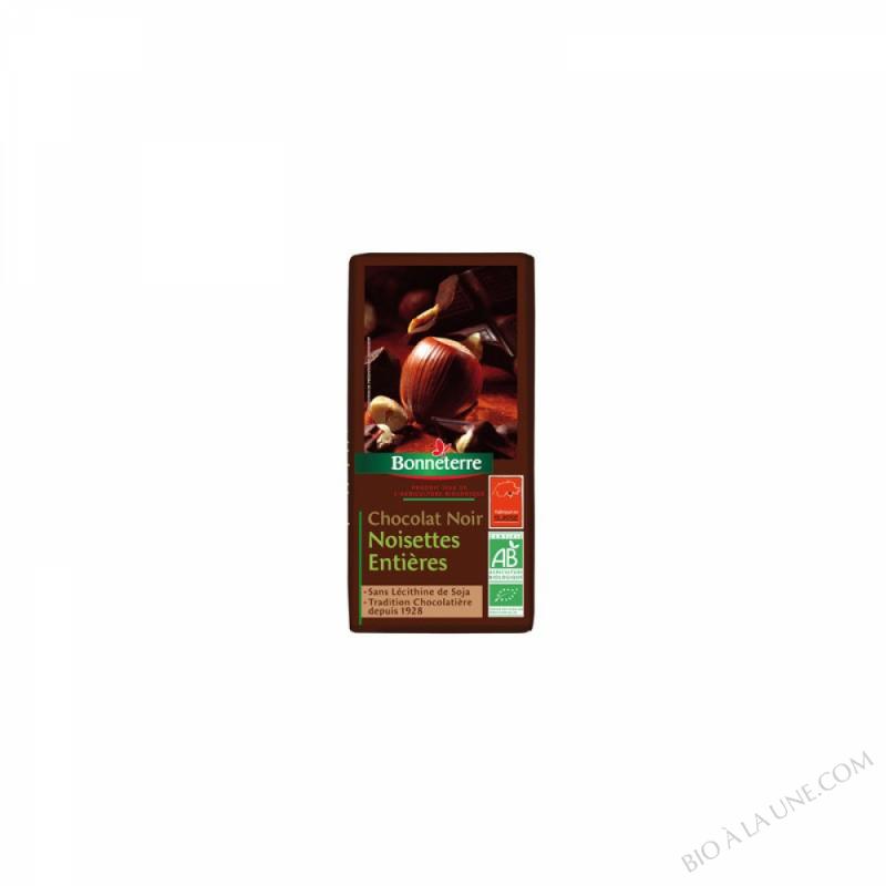 Chocolat Noir Noisettes Entieres 200gr