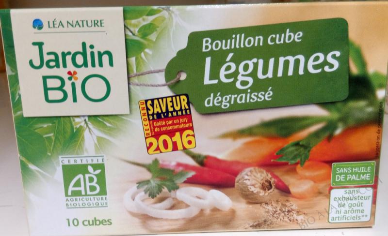 BOUILLON CUBE LEGUMES DEGRAISSE
