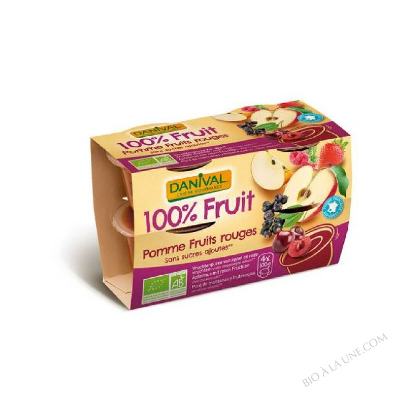 100% FRUIT POMME FRUITS ROUGES