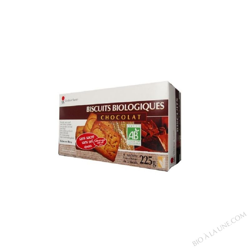 BISCUITS CHOCOLAT SS SUCRE/SEL BIO 225G