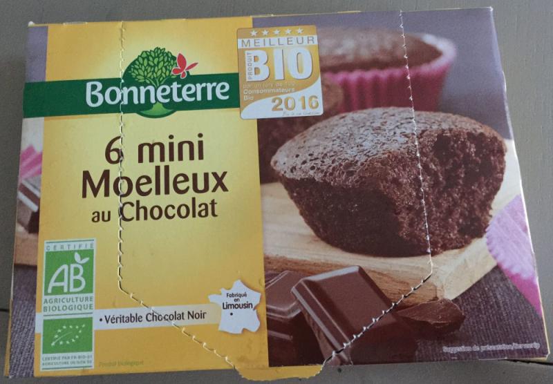6 MINI MOELLEUX AU CHOCOLAT NOIR 200GR