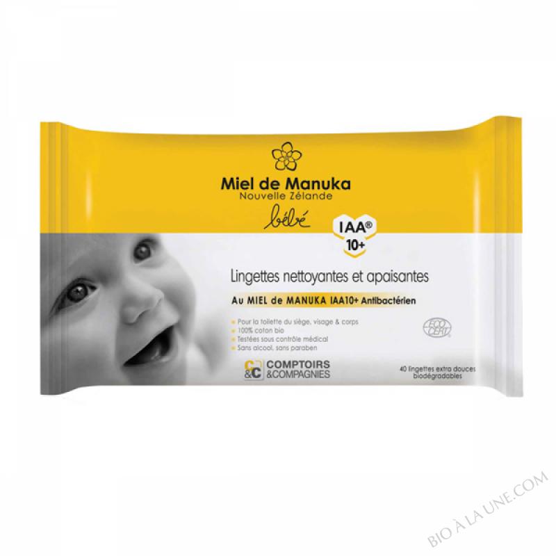 Lingettes nettoyantes au miel de Manuka