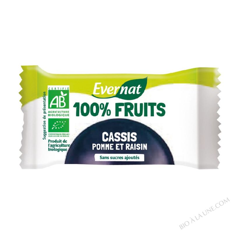 Barre De Fruits Seches Cassis bio 30g