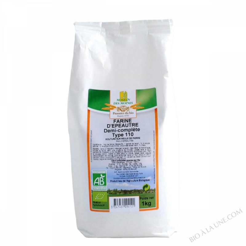Farine d'epeautre demi-complete T110 - 1kg