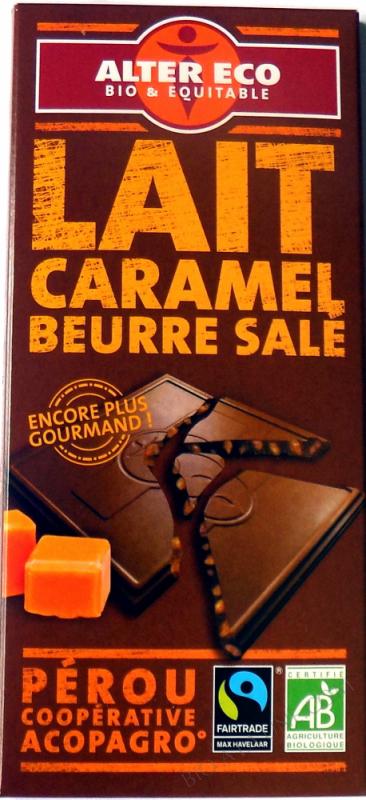 Chocolat lait Caramel Beurre sale
