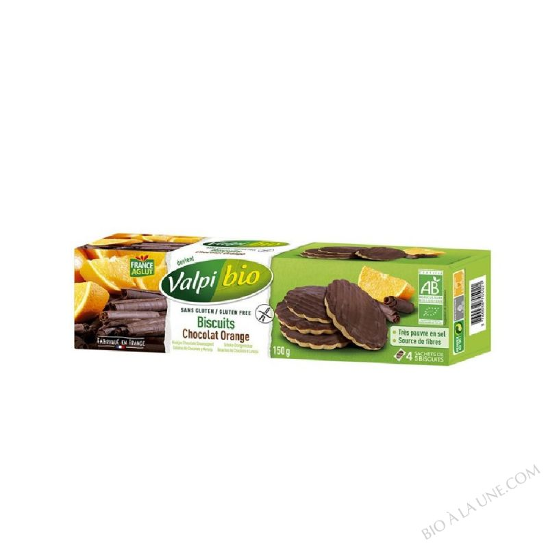 BISCUITS ORANGE CHOCOLAT BIO 150G