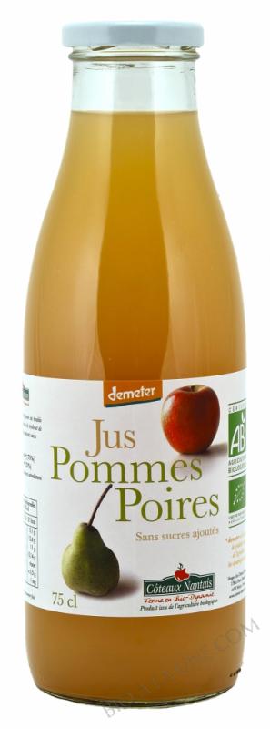 Jus pommes poires Bio et Demeter 75cl