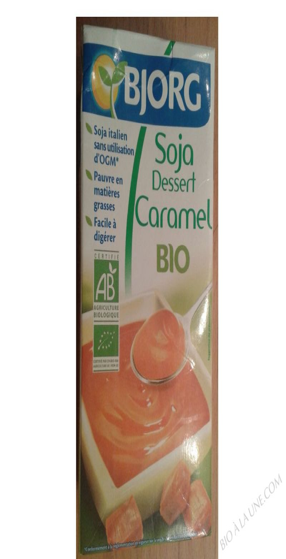 Soja dessert caramel 525g