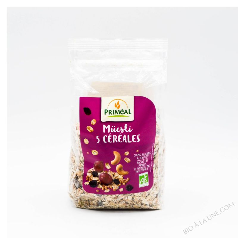Muesli aux 5 cereales 500 g