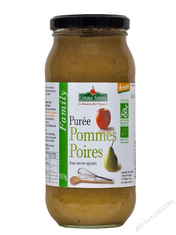 Puree pommes poires Bio et Demeter 910g
