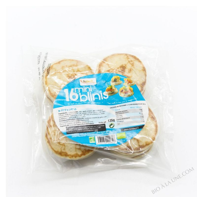 MINI BLINIS X16 135G BIOBLEUD
