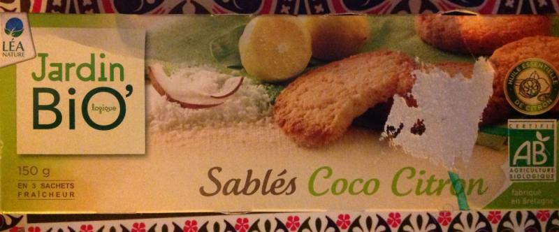 SABLES COCO CITRON 150G