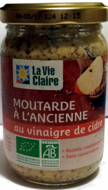 Moutarde à l'ancienne au vinaigre de cidre- 200 g
