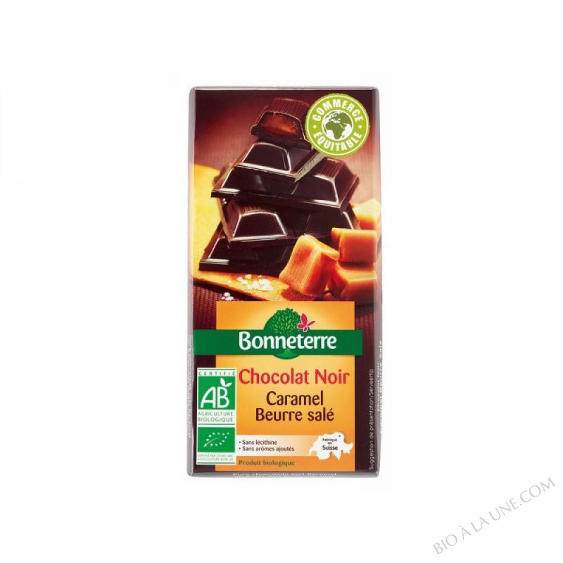 Chocolat Noir Fourre Caramel Beurre Sale 100gr