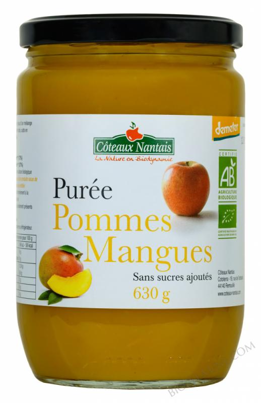 Purée pommes mangues 630 g