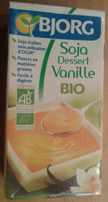 Soja dessert vanille 525g