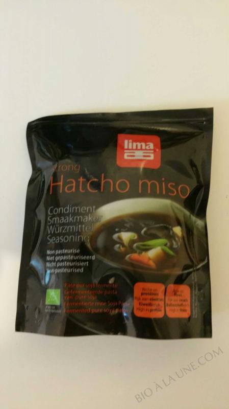 Hatcho miso (pur soja) non pasteurise