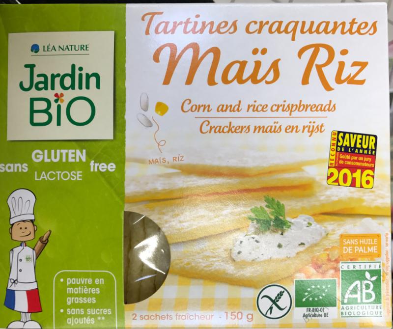 tartine craquante sans gluten mais/riz