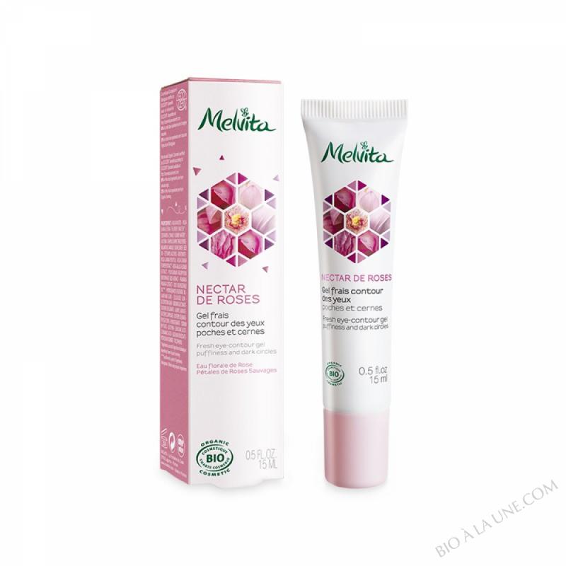 Gel frais Contour des Yeux Nectar de roses - 15 ml