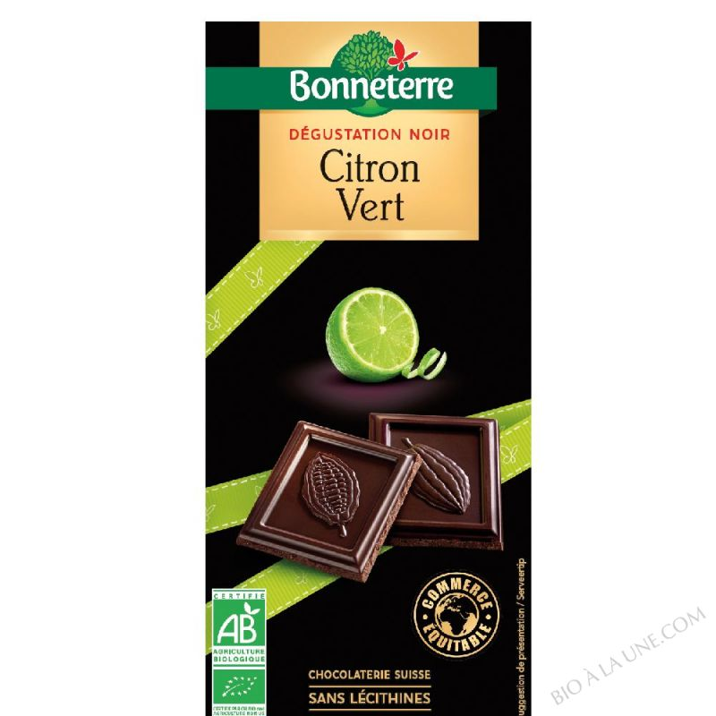 Chocolat Noir Citron Vert bio 85g