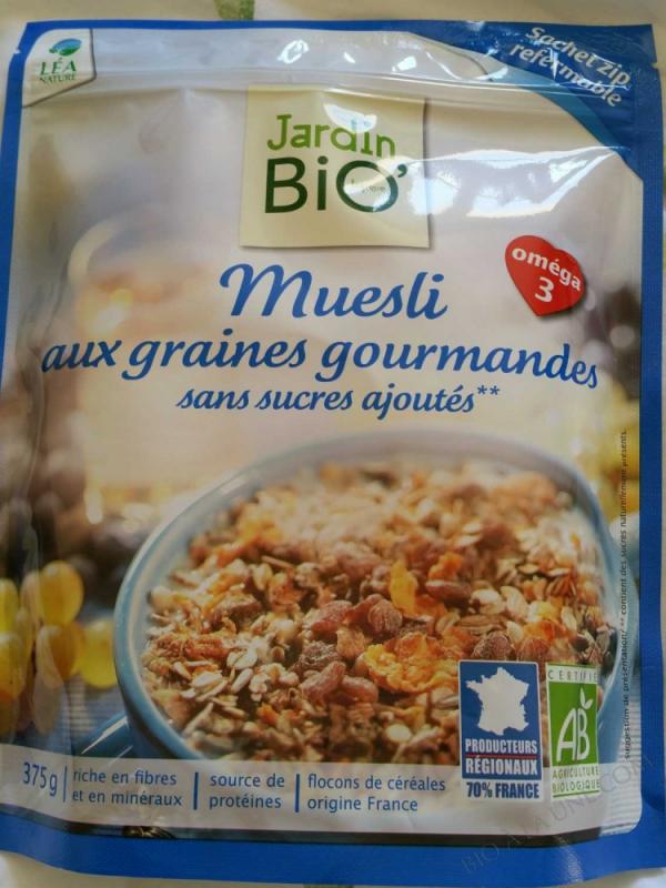Muesli aux graines sans sucres ajoutes 375gr
