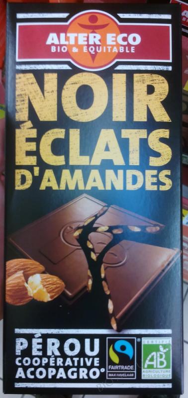 Chocolat noir Amandes bio