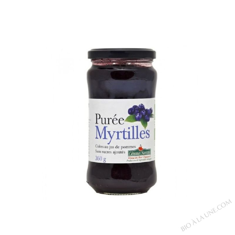 Puree myrtilles Bio 360g