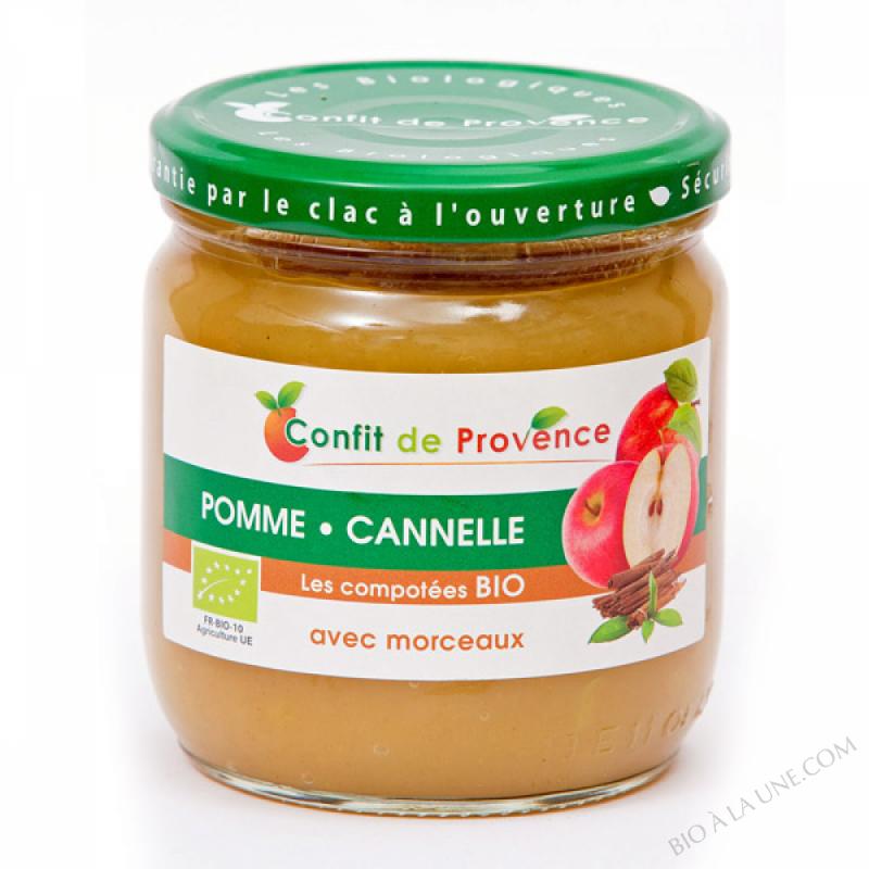 Compote Pomme Cannelle avec Morceaux BIO 430g
