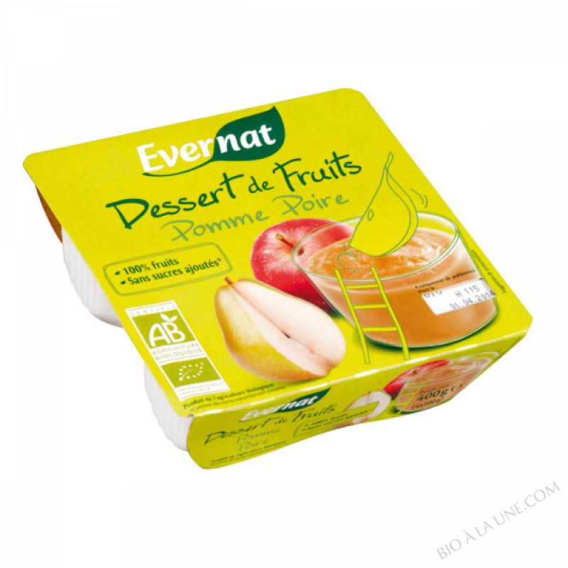 Dessert de Fruits Pomme Poire 4x100g