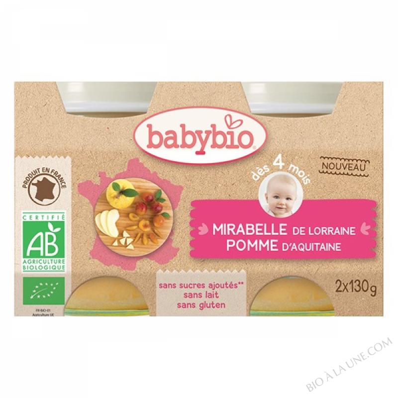 BABYBIO Pot Mirabelle Pomme