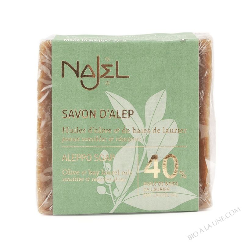 Savon d'Alep 40% d'huile de baies de laurier