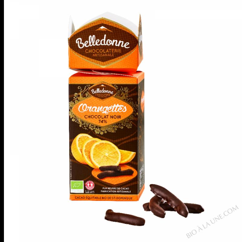 Orangettes chocolat noir 74%